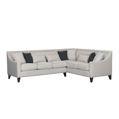 Zivah Solid L-Shaped Sectional Finish: Cream, Orientation: Right-Facing