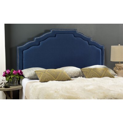 Parsonsfield Upholstered Headboard Size: King, Upholstery: Blue
