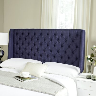 Shaws Upholstered Wingback Headboard Size: Queen