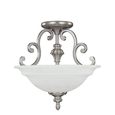 Knapp 3-Light Semi-Flush Mount Finish: Matte Nickel