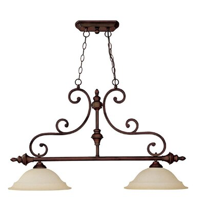 Prestbury 2-Light Kitchen Island Pendant Finish: Burnished Bronze