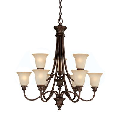 Colden 9-Light Shaded Chandelier