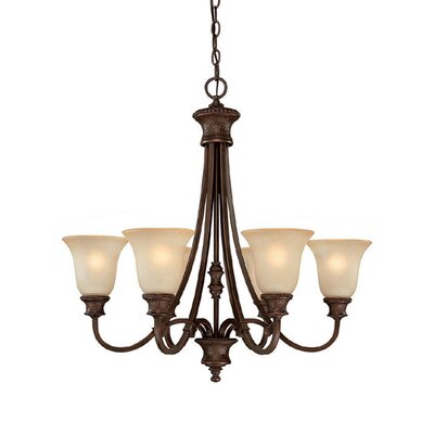 Colden 6-Light Shaded Chandelier