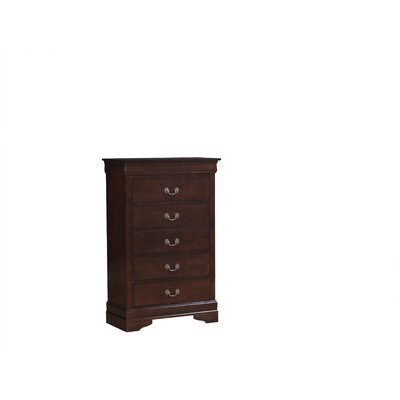 Oldbury 5 Drawer Chest Color: Cappuccino