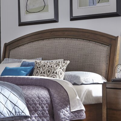 Aranson Upholstered Sleigh Headboard Size: King