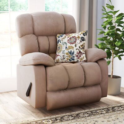Ragland Softsuede Rocker Recliner Upholstery: Taupe