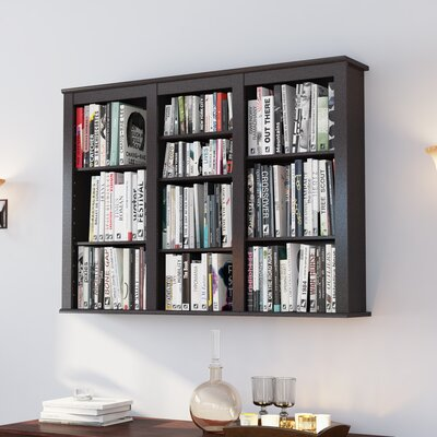 Triple Media Multimedia Wall Mounted Storage Rack Color: Espresso