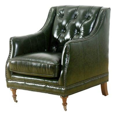 Chinery Club Chair Upholstery: Emerald Green