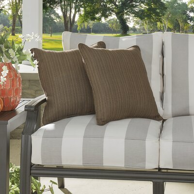 Baskerville Outdoor Sunbrella Throw Pillow Size: 18 x 18, Fabric: Dupione Walnut