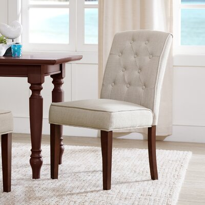 Lewin Tufted Side Chair Upholstery: Tan