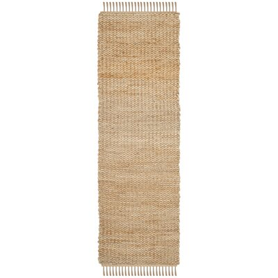 Hand-Woven Natural Fiber Area Rug Rug Size: Runner 26 x 8