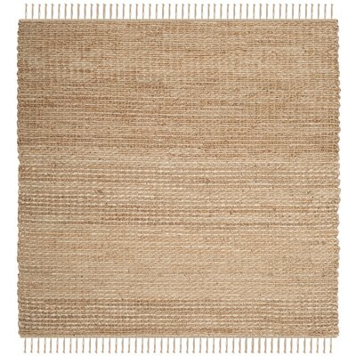 Hand-Woven Natural Fiber Area Rug Rug Size: Square 6