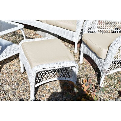 Herrin 6 Piece Wicker Seating Group with Cushions Fabric: Ivory, Frame Finish: White