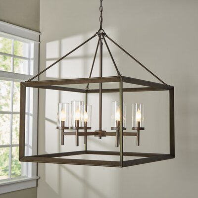Coxsackie 6-Light Foyer Pendant Finish: Gunmetal Bronze, Shade Color: Clear