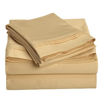 Amherst 1000 Thread Count 100% Cotton Sheet Set Color: Gold