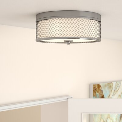 Lofton 3-Light Flush Mount Finish: Brushed Nickel