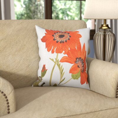 Millsaps Throw Pillow Color: Orange