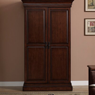 Arsenault Bar Cabinet with Wine Storage Color: Navajo