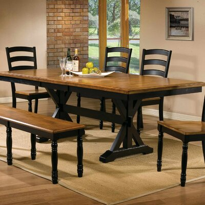 Snyder Dining Table Finish: Almond / Ebony