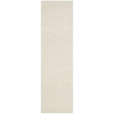 Bathild Hand-Tufted Ivory Area Rug Rug Size: Runner 23 x 8