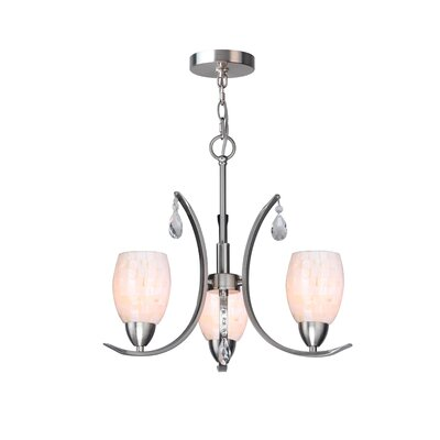 Berenice Modern 3-Light Mini Chandelier Finish: Satin Nickel