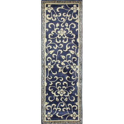 Georgianna Hand-Tufted Navy Area Rug Rug Size: Runner 26 x 8