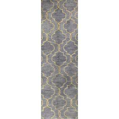 Valley Hand-Tufted Gray Area Rug Rug Size: Runner 26 x 8
