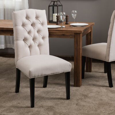 Radley Upholstered Dining Chair Color: Natural