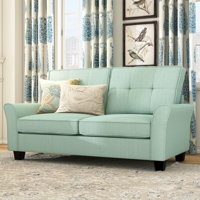 Mcneely Loveseat Upholstery: Blue