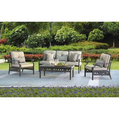 Derry 4 Piece Deep Seating Group with Cushion
