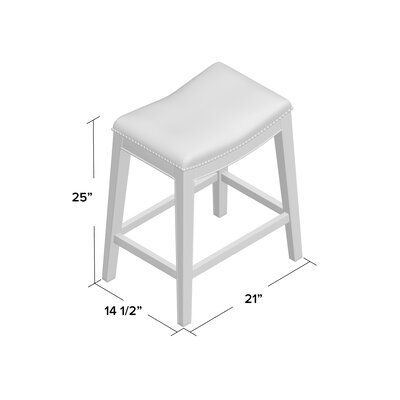 Laniel 24.5 Bar Stool Finish: Brown, Upholstery: Pumpkin