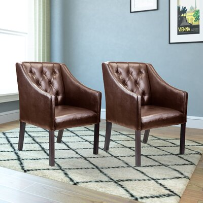 Booth Armchair Upholstery: Brown