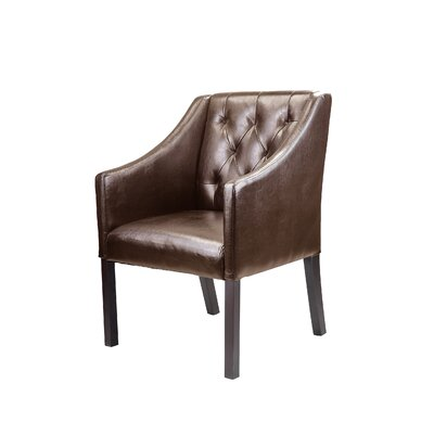 Booth Armchair Color: Brown