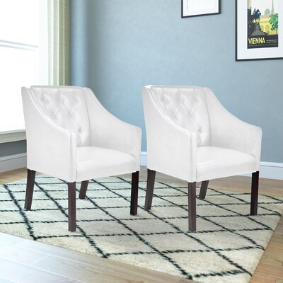 Booth Armchair Upholstery: White