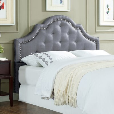Ryedale Upholstered Panel Headboard Size: Queen, Upholstery: Light Gray