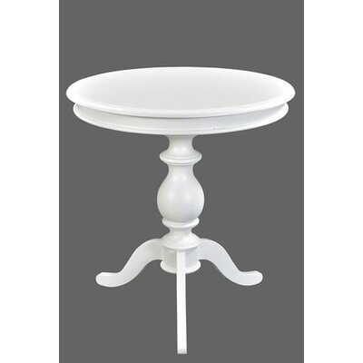 Pheasant End Table Color: White