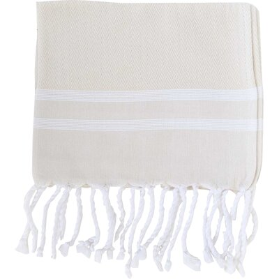 Sumner Stripe Hand Towel (Set of 2) Color: Beige/White