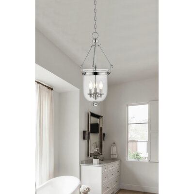 Lauder Foyer Pendant Size: 25 H x 12 W x 12 D, Finish: Polished Nickel