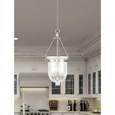 Lauder Foyer Pendant Size: 25 H x 12 W x 12 D, Finish: Brushed Nickel
