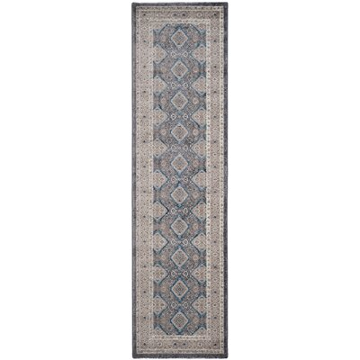Sofia Light Gray/Beige Area Rug Rug Size: Runner 22 x 8