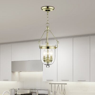 Lauder Foyer Pendant Size: 20 H x 10 W x 10 D, Finish: Polished Brass