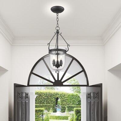 Lauder Foyer Pendant Size: 20 H x 10 W x 10 D, Finish: Bronze