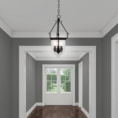 Lauder Foyer Pendant Size: 20 H x 10 W x 10 D, Finish: Black