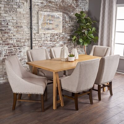 Williamsville Traditional 7 Piece Dining Set Finish: Oak/Oak