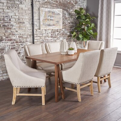 Williamsville Traditional 7 Piece Dining Set Finish: Walnut/Oak