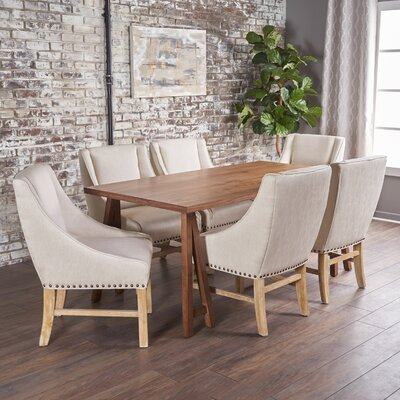 Williamsville Traditional 7 Piece Dining Set Finish: Walnut/Walnut