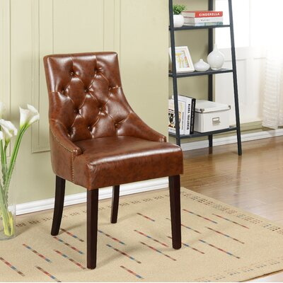 Cicero Side Chair Upholstery: Two Tone Brown