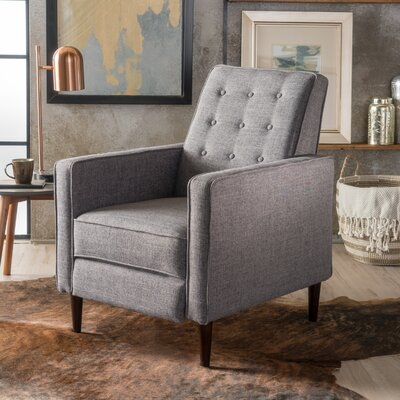 Palatine Manual Recliner Upholstery: Gray