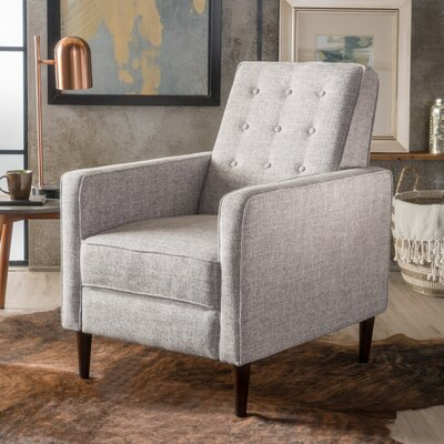 Palatine Manual Recliner Upholstery: Light Gray