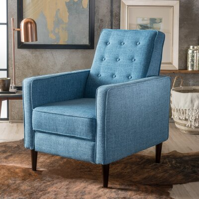 Palatine Manual Recliner Upholstery: Muted Blue